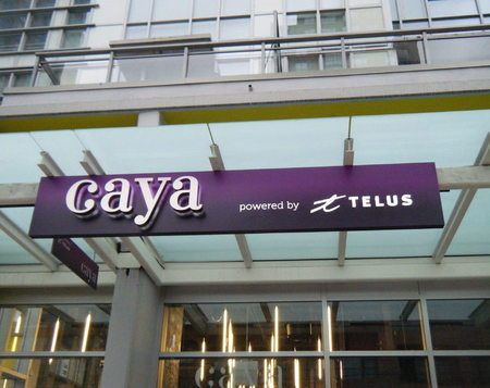 Canopy Sign - Caya Telus - Channel Letters - Push Thru - Illuminated : canopy signs - memphite.com