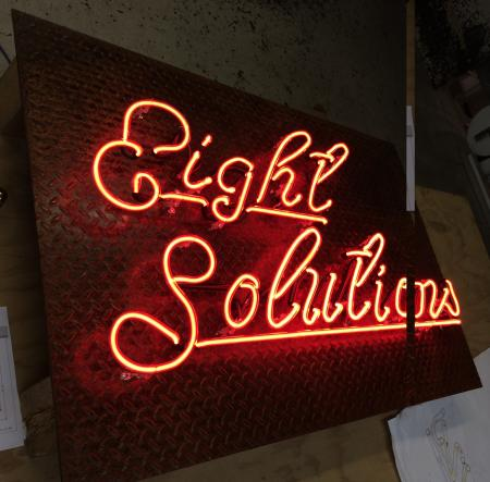 eight solutions neon on diamond plate